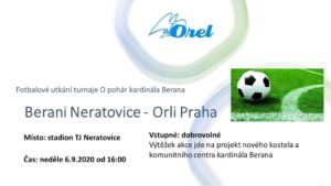 Fotbalové utkání turnaje O pohár kardinála Berana
